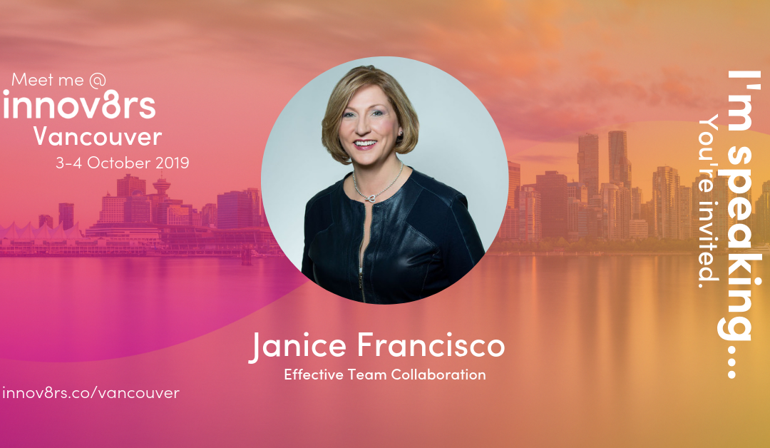 INNOV8RS VANCOUVER: OCTOBER 3 & 4, 2019