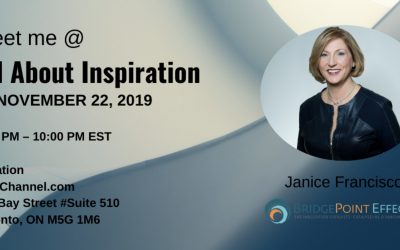 ALL ABOUT INSPIRATION TORONTO, NOVEMBER 22, 2019