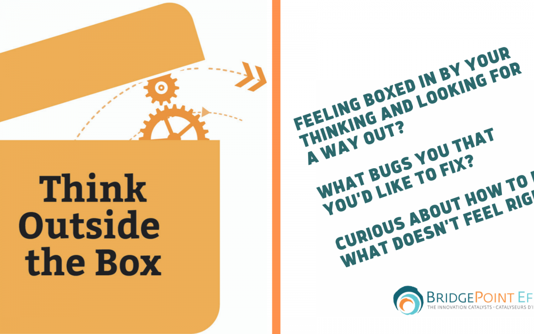 Think Outside the Box – Toronto – Saturday January 18, 2020