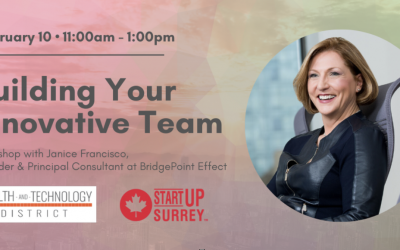 Building Your Innovative Team – February 10, 2020 in Surrey, BC 11:00 am – 1:00 pm